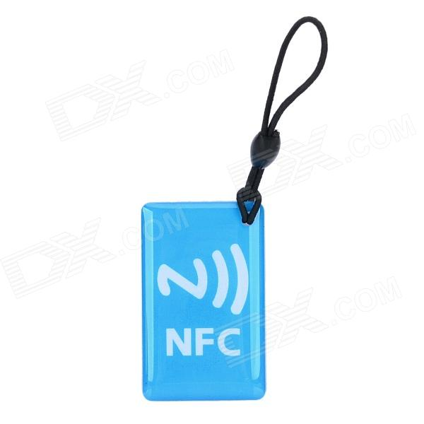 030902 NFC Erasable Smart Label Epoxy Pendant - Light Blue
