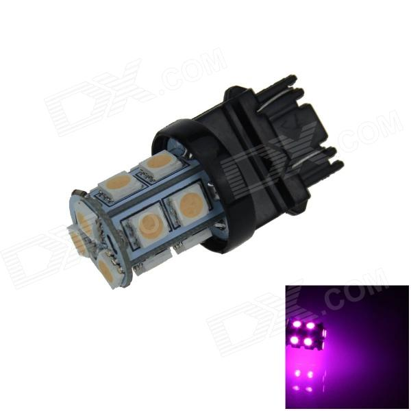 3157 / 3156 2.5W 250lm 13-SMD 5050 LED Pink Purple Light Car Steering / Brake / Tail Lamp (12V)