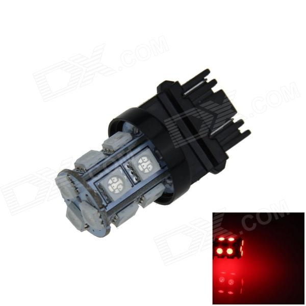 3157 / 3156 2.5W 250lm 13-SMD 5050 LED Red Light Car Steering / Brake / Backup / Tail Lamp (12V) 115750 13w 1157 2 3w 250lm 13 smd 5050 led white car steering brake tail backup lights