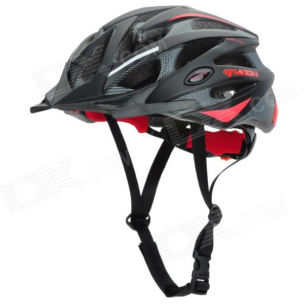 MOON MV29 Outdoor Cycling Bike Helmet - Black Red (Size L)