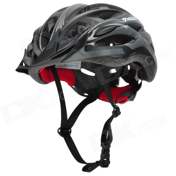 MOON MV-88-GJ Outdoor Cycling Bike Helmet - Black + Grey + Red (Size XL)