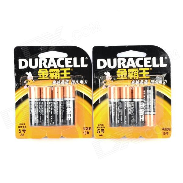 batterie alcaline AA DURACELL 1.5V (8 pezzi)