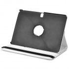 360° Rotary Protective Flip Open PU Case w/ Stand for 10.1'' Samsung T520 Galaxy Tab Pro - White