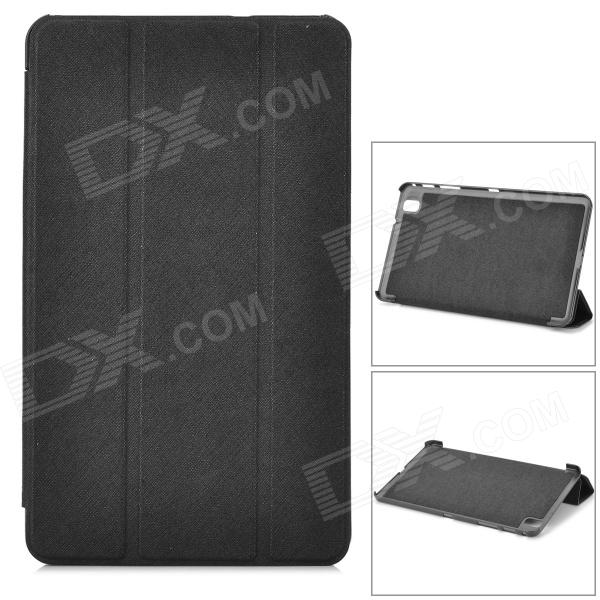 Three-fold Flip Open PU Case w/ Stand for 8.4'' Samsung Galaxy Tab Pro SM-T320 - Black fashion painted flip pu leather for samsung galaxy tab a 10 1 sm t580 t585 t580n 10 1 inch tablet smart case cover pen film