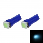 T5 0.2W 18lm SMD 5050 LED Ice Blue Light Car Instrument Lamp / Indicator Blub (DC 12V / 2 PCS)