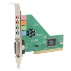 3D 4.1 Channel Desktop PCI Audio Sound Card Adapter Module - Green