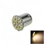 1156 / BA15S / P21W 3W 200lm 22-SMD 1206 LED Warm White Car Lamp (12V)