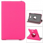 360° Rotary Plastic + PU Flip Open Case w/ Stand / Card Slot for Samsung Galaxy Tab 3 Lite T110