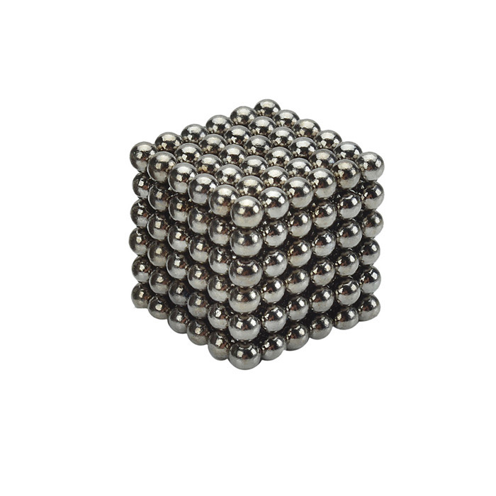 4.7~4.9mm Neodymium NIB Magnet Spheres with Steel Case - Black (216-Piece Pack)