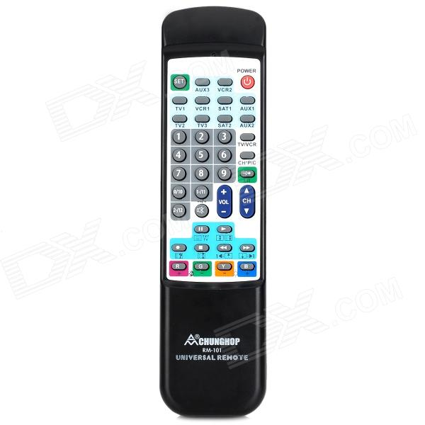 CHUNGHOP RM-101 10-in-1 Universal Remote Control - Black + White (2 x AA)