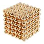 4.7mm Neodymium NIB Magnet Spheres with Steel Case - Gold (216-Piece Pack)