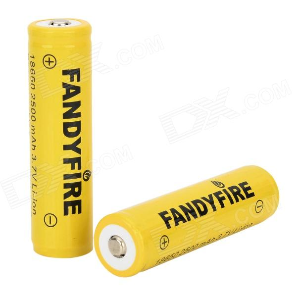 FANDYFIRE 3.7V 2000mAh 18650 Li-ion Batteries (2 PCS) fandyfire protected 14500 rechargeable 3 7v 400mah li ion batteries white pair