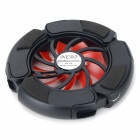 1-Fan Notebook Cooler w/ Blue Light - Black + Red