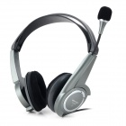 DANYIN DT-2108 Wired Bass Headphones w/ Microphone - Black + Light Grey (3.5mm Plug / 2.5m)