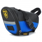 INBIKE B576 PU + Oxford Fabric Bike Tail Bag - Black + Blue