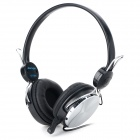 DANYIN DT-329 Wired Headphones w/ Microphone - Black Grey + Silver (3.5mm Plug / 2.3m)