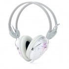 DANYIN DT-2117 Wired Headphones w/ Microphone - White + Pink (3.5mm Plug / 2.5m)