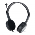 DANYIN DT-317 Stylish Headphones Headset w/ Microphone - Black + Silver (3.5mm Plug / 250cm-Cable)