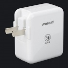 PISEN TS-FC026 Dual USB US Plugss Charger for IPHONE / Samsung - White