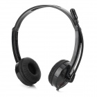 DANYIN DT-385S 3.5mm Wired Headset Headphone w/ Microphone - Black