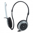 DANYIN DH-983 Wired Ear-Hook Headphones w/ Microphone - Black + Grey (3.5mm Plug / 2.3m)