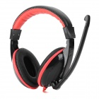 DANYIN DT-2669G Fashion Wired Headphones w/ Microphone - Black + Red (3.5mm Plug / 2.5m)