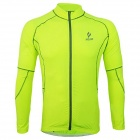ARSUXEO 60017 Quick-dry Women Cycling Running Long Sleeves Jersey Top - Fluorescent Green (Size M)