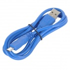 USB 2.0 Male to Micro USB Male Data Sync / Charging Cable for Samsung / HTC + More - Blue (98cm)