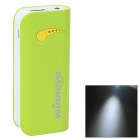 "Winnovo WMP-12K Universal Mobile ""4400mAh"" Power Bank w/ LED Flashlight - Green"
