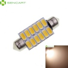 SENCART Festoon 39 milímetros 4W 110lm Warm White 12-5730 LED SMD Car Light