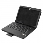 78-key Bluetooth V3.0 Keyboard w/ Detachable PU Case for Samsung Galaxy Note Pro P900 - Black