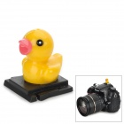 Universal Cute Little Duck Ornament ABS Hot Shoe Cover for DSLR - Black + Yellow