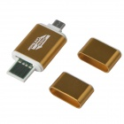 2-in-1 USB / Micro USB OTG & TF Memory Card Reader Connection Kit for Smart Phones & PAD - Golden