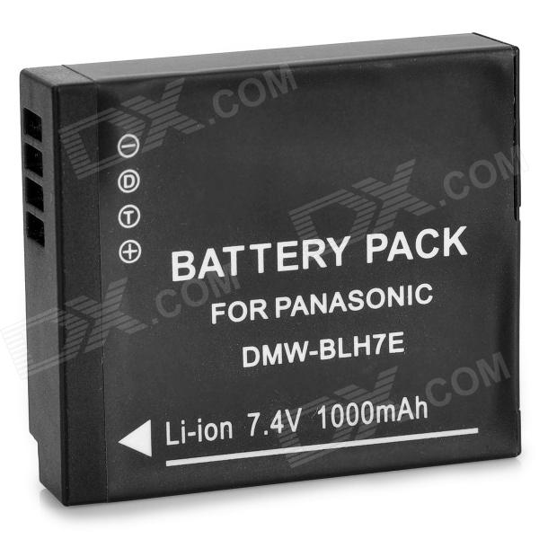 Replacement 7.4V 1000mAh Decoded Battery for Panasonic DMW-BLH7E Digital Camera - Black replacement vbn260 7 4v 2500mah battery pack for panasonic hdc sd800gk tm900 hs900 sd900