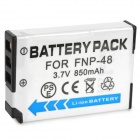 Replacement 3.7V 850mAh Decoded Battery for Canon FNP-48 Digital Camera - White