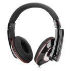 Yihao YH-A5 Stereo Headphone w/ Microphone - Dark Red + Black (3.5mm)