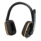 HYUNDAI Stereo Wired Headphone w/ Mic - Orange + Black