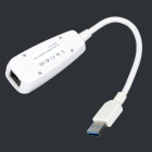 Wired USB 3.0 to 10/100/1000M Ethernet Card - White