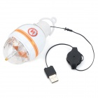 3W RGB 3-LED 7-Color Rotating Light (EU Plug)