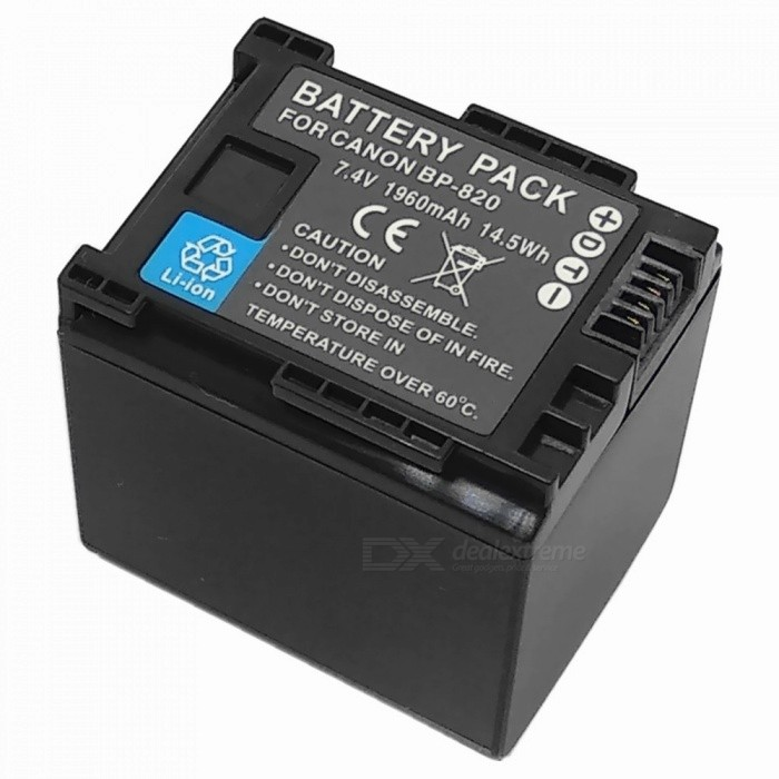 Replacement BP-820 7.4V 1780mAh Decoded Battery for Canon XA20 / XA25 Digital Camera - Black bp 208 compatible 850mah battery pack for canon mvx1sidc10 dc20 more