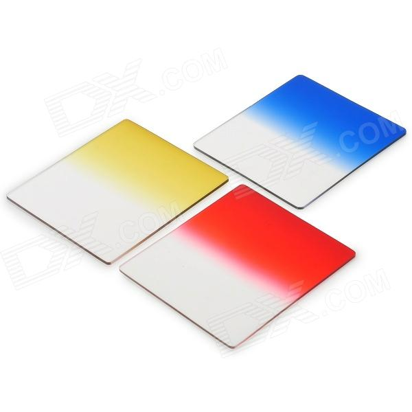 JB-03 Resin Gradient Lens for Camera - Blue + Red + Yellow (3 PCS)