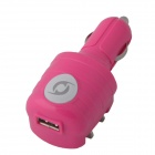 KK-543 USB Car Charger / US Plug AC Power Charger Adapter - Deep Pink (DC 12~24V / AC 110~240V)