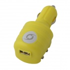 KK-543 USB Car Charger / US Plug AC Power Charger Adapter - Yellow (DC 12~24V / AC 110~240V)