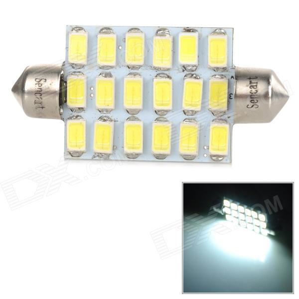 SENCART 44mm 18smd 5730 5W 180lm 9500K 18-5730 SMD LED Cool White Light Lamp (9~36V) sencart sv8 5 8 1w 40lm 9500k 5730 smd led cool white light car roof reading lamp 2pcs dc12 16v