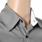 5902001399 Men's Stylish Custom Fitting Cotton Blended Shirt - Grey (L)