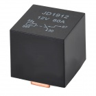 JD29 12V-80A ABS + Aluminum Alloy Relay - Black