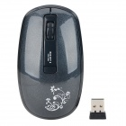 Fashion V186 2.4GHz USB 2.0 1250/1800dpi Wireless Optical Mouse - Black