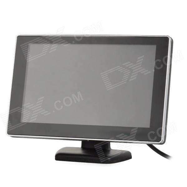 "ET-500 5 ""HD Digital 1-DIN Car Monitor w / AV-In - Sort + Silver"