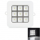 LSON G-09W 9W 720LM 7500K Cool White LED Panel Light - White + Black (AC 85~265V)