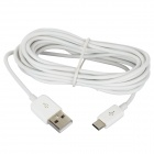 USB to Micro USB Data Charging Cable + EU Plug Power Adapter for Samsung - White